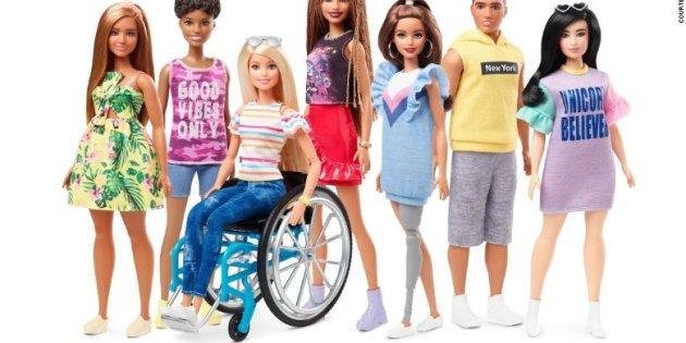 Barbie con silla de ruedas y Barbie con prótesis; Nueva línea incluyente