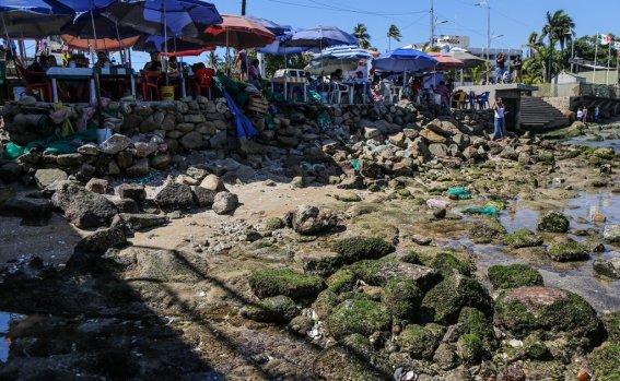 El mar se alejó 20 metros en Acapulco