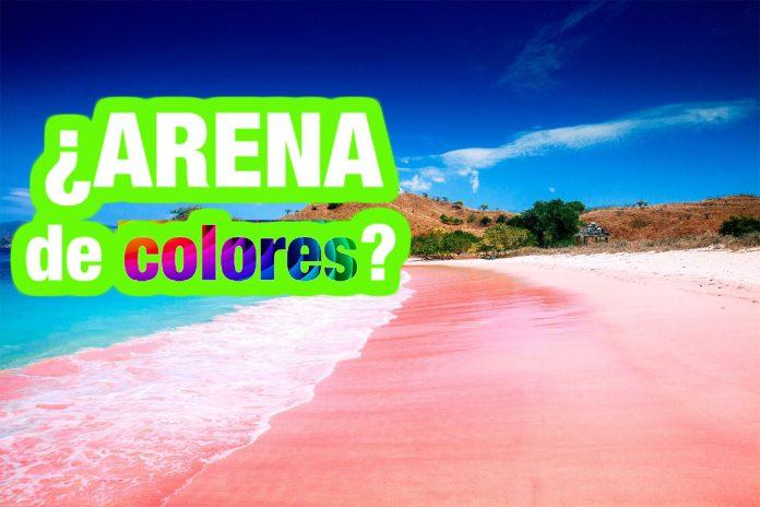 ¿Qué es lo que causa el color de la arena?